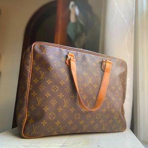 Louis Vuitton Work/Laptop Bag Monogram Authentic LV